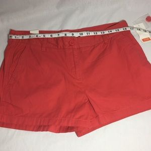 Joe Fresh dark coral shorts size 10